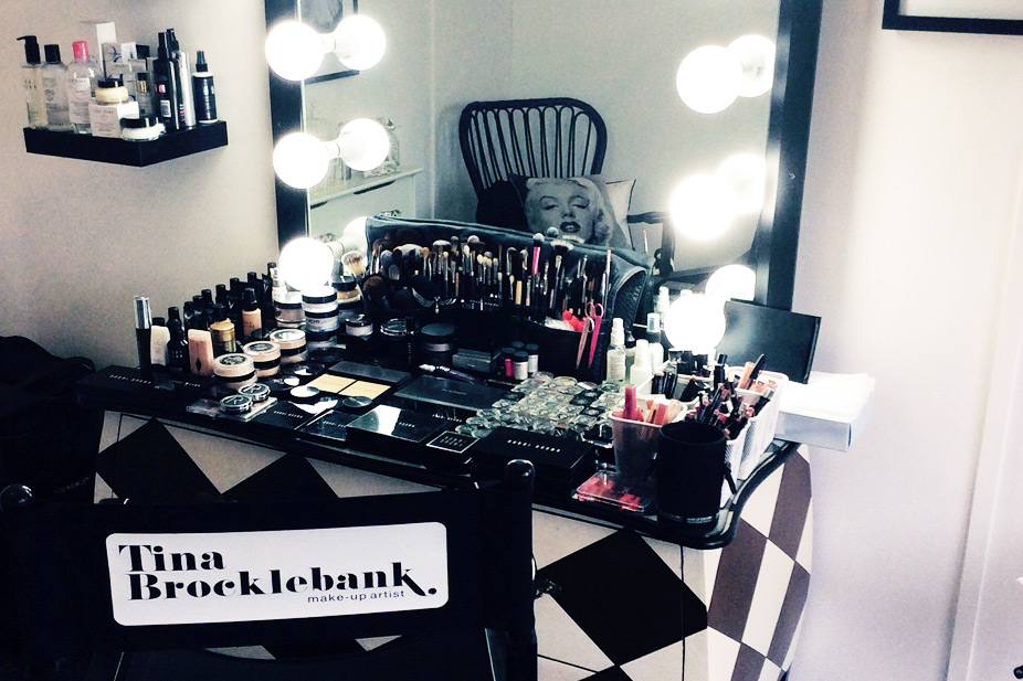Tina Brocklebank Make-up artist studio.