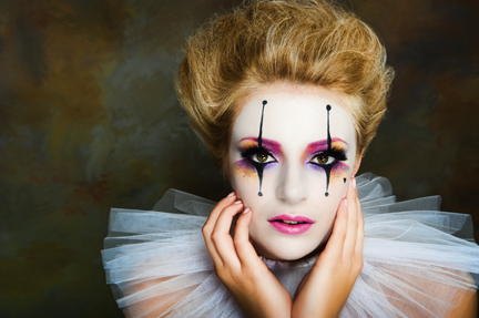 Harlequin Makeup by Tina