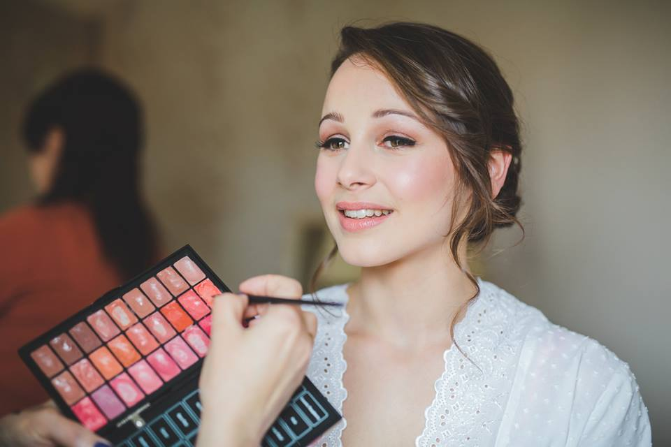 Bridal make-up by Tina Brocklebank using Bobbi Brown, Photo by Merika Almond @ James Green studio
