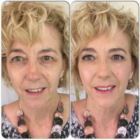 Anne White before and after makeup