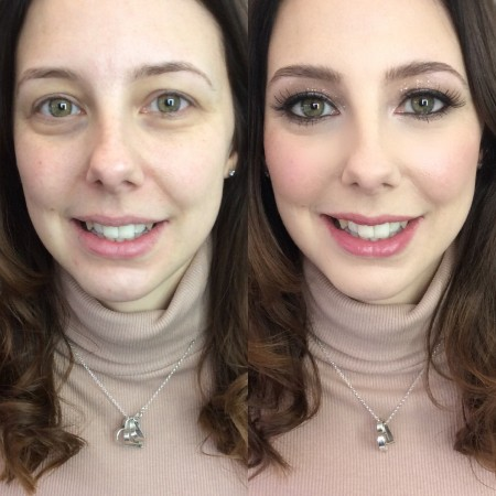 Kate - before and after make-up. Make-up by Tina Brocklebank Make-up artist.