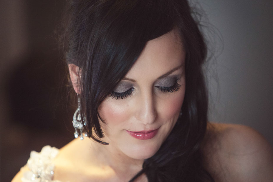 Bridal make-up by Tina Brocklebank using Bobbi Brown. False eyelashes by MAC. Photography by James Green.