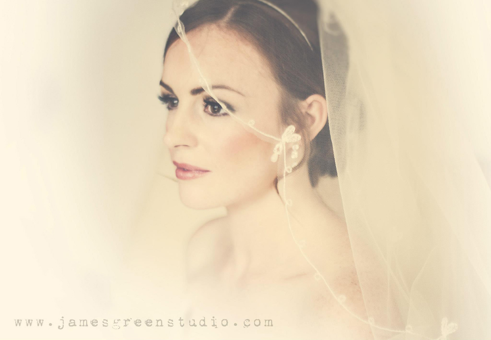 Bridal make-up by Tina Brocklebank using Bobbi Brown and Eylure false eyelashes. Photography by James Green.