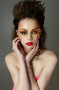 80s inspired makeup.