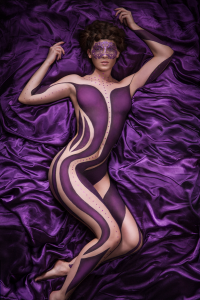 Body painting by Tina Brocklebank using Make-up Forever and MAC cosmetics. Photo by Aaron Cheesman. Model - Siana Hemmings. Hair by Rachel Courtney.