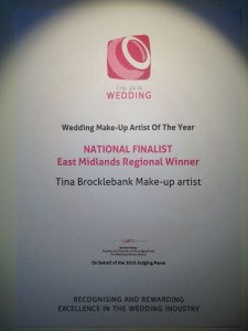 Wedding Make-up artist of the Year 2016 - The Wedding Industry awards.