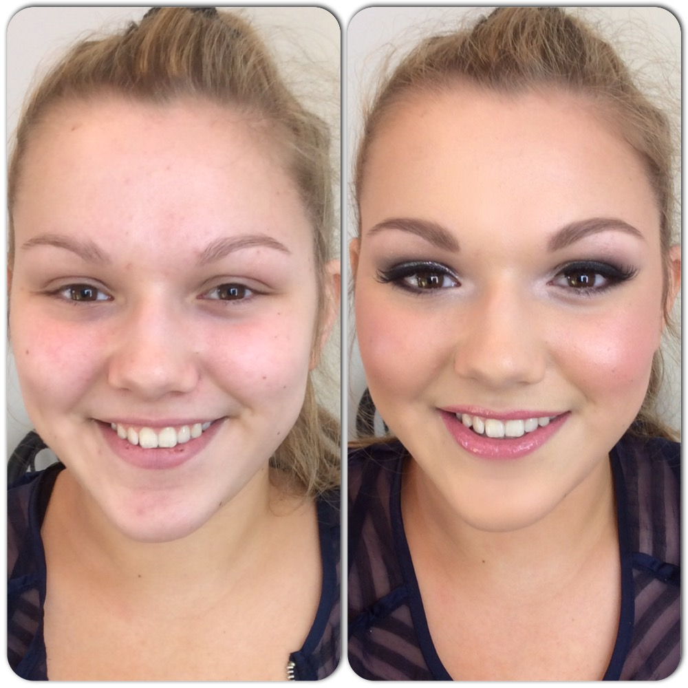 Prom makeup by Tina Brocklebank.