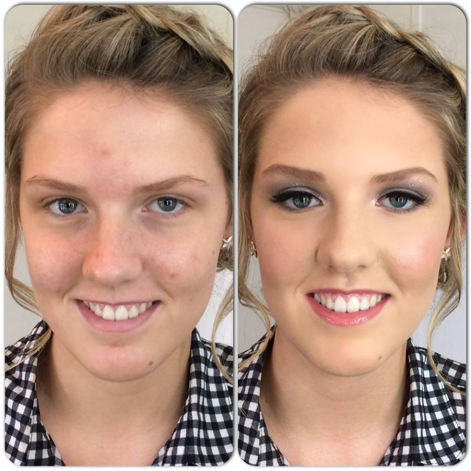 Olivia Stocks, Prom makeup by Tina Brocklebank.