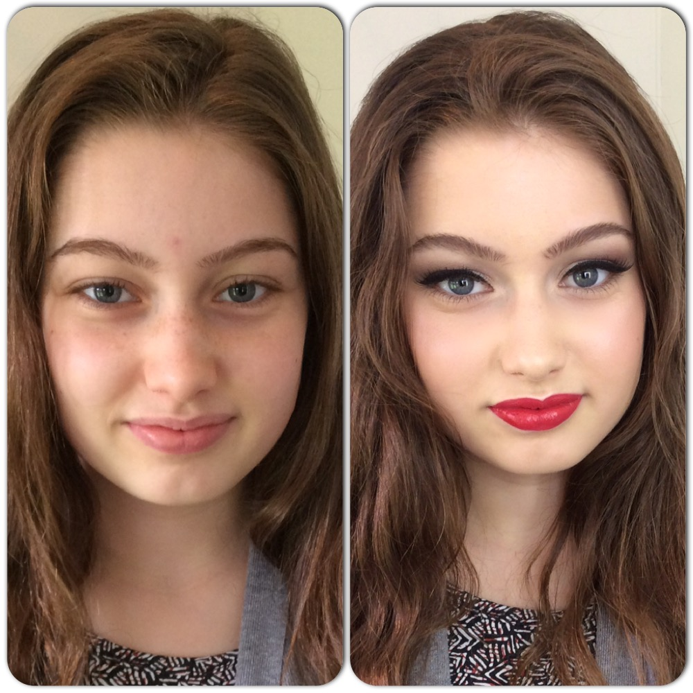 Prom make-up by Tina Brocklebank.