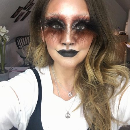 Halloween/feather false lashes