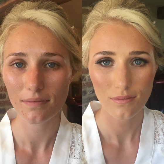Beautiful Holly on her Bridal makeup trial.