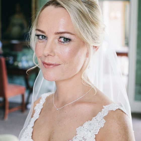 Bridal make-up by Tina Brocklebank. Hair by James White @ Stubton hall.