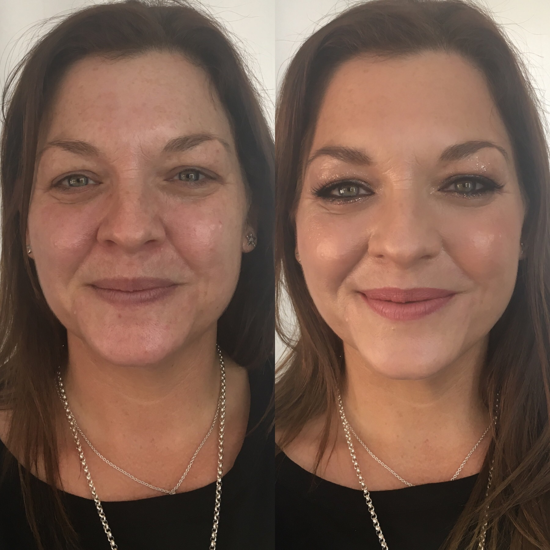 Abbie visited me for a makeup lesson. She loves makeup and leads a very busy life, but wanted to be shown what products to use to make her look more polished for everyday. I also showed her how to apply some false lashes for an evening look. She loved it!