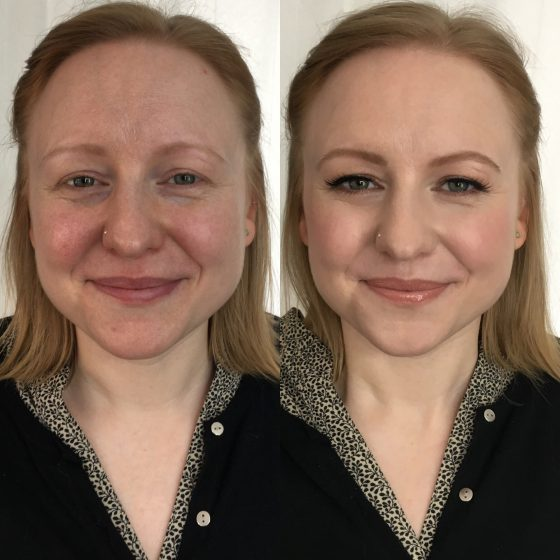 """I met the lovely Eloise from Manchester today, who had travelled for her Bridal makeup trial, ready for her wedding in June. Eloise's wedding theme sounds lovely. Make-up wise - a natural girl so just wanted a """"more polished version of herself."""" I used @ctilburymakeup and @bobbibrownuk with some @ardellbeauty false lashes. (False lashes don't have to look false!)"""