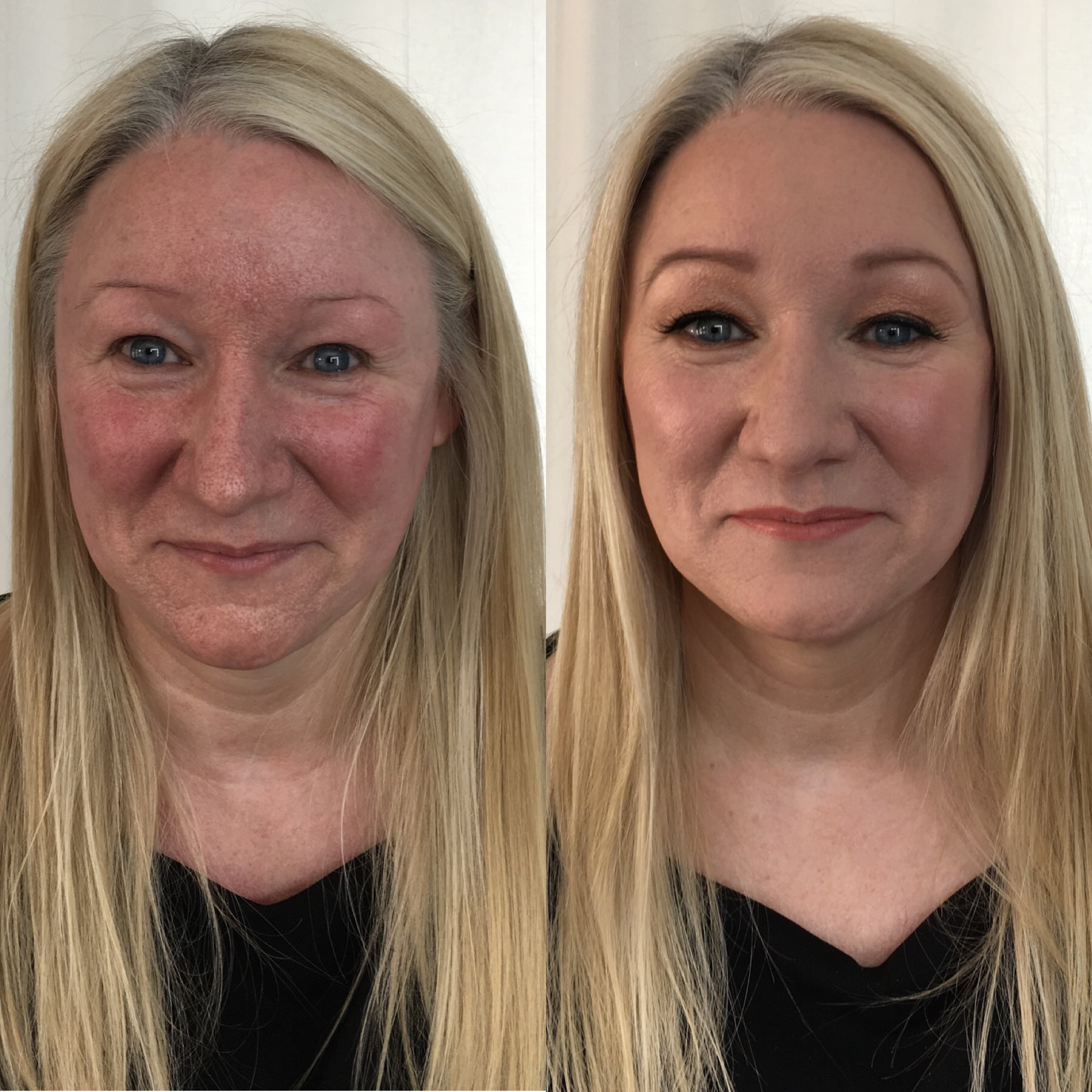 Lisa visited me for a makeup lesson. I showed her easy step by step ways to enhance her face, without looking overly made-up.