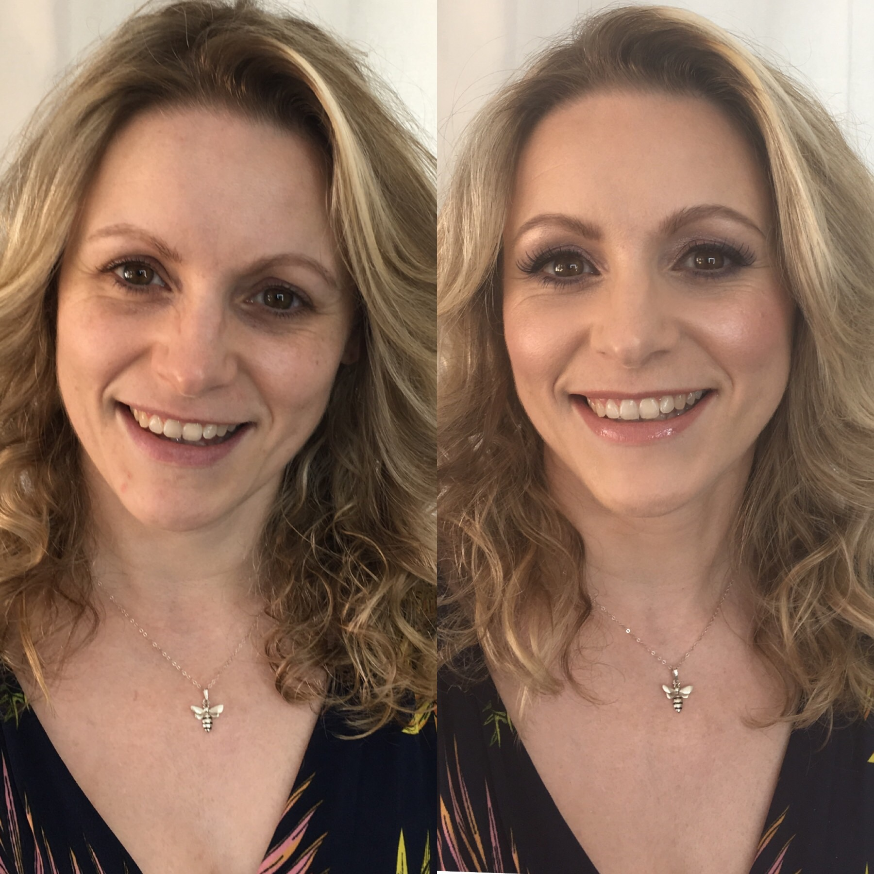 Samantha on her Bridal makeup trial.