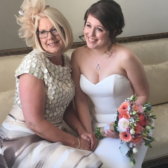 Katy and her Mum at Hemswell court.